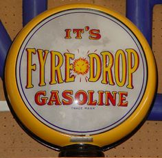 Fire drop gas pump globe