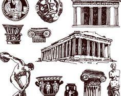 Greek Culture, Faces, Street, Illustration, Painting, Painting Art, The Face, Paintings, Illustrations