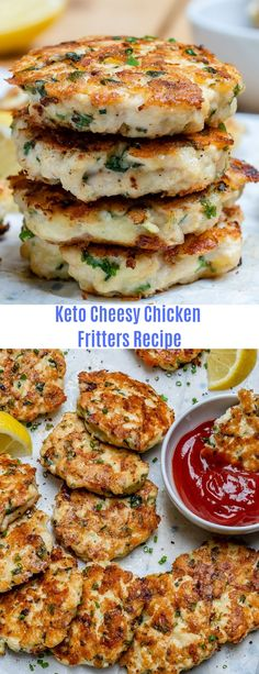 Keto Cheesy Chicken Fritters Recipe This easy chicken fritters recipe takes just 30 minutes to make. It's a healthy and delicious Keto recipe, and it's also perfect for meal planning. More from my site Healthy Avocado Chicken Salad Recipe Ketogenic Recipes, Low Carb Recipes, Diet Recipes, Cooking Recipes, Healthy Recipes, Dessert Recipes, Breakfast Recipes, Crockpot Recipes, Soup Recipes