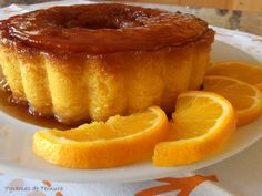Portuguese Orange Pudding Recipe - Portuguese Recipes - Food Recipes from Portugal Portuguese Desserts, Portuguese Recipes, Portuguese Food, Just Desserts, Dessert Recipes, Pudding Recipes, International Recipes, Food Inspiration, Sweet Recipes