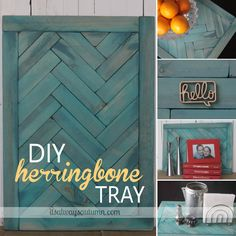 DIY: Herringbone Tray