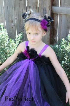 Maleficent Tutu Dress by PicPerfect on Etsy, $45.00