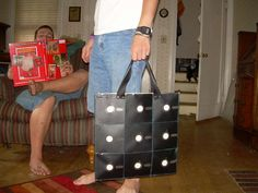 DIY Tote bag from Floppy Disks