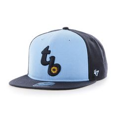 uk availability 46e04 31a13 Tampa Bay Rays Sure Shot Accent Captain Navy 47 Brand Adjustable Hat