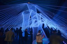Interactive light and sound installation