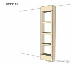 step 10 bult-in bookshelves