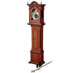 Swedish Painted Pine Longcase Clock