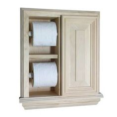 Give your bathroom a cleaner, simpler look with this in-wall toilet paper holder. It features spring-loaded roller to make it easy to use, an extra slot for a second roll of paper, and a small cabinet, so you can keep necessities close by.
