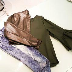 #camicia #cotone #verde #jeans #strappi #bolero #coprispalle #eco #verde # disponibile  anche #nero #valeria #abbigliamento