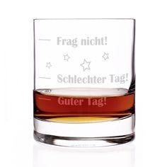 Stölzle Lausitz Whiskyglas mit Gratis Gravur - Guter Tag - Schlechter Tag - Frag nicht! - das Launebarometer als lustige Geschenkidee: Amazon.de: Küche & Haushalt