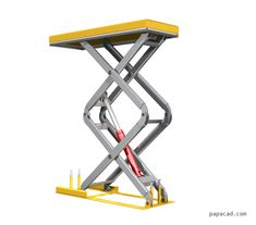 Scissor Lifts for sale Scissor Lift For Sale, Warehouse Shelving, Lift Table, Lift Design, Building Stairs, 3d Cad Models, Screws And Bolts, Backyard Seating, Homemade Tools