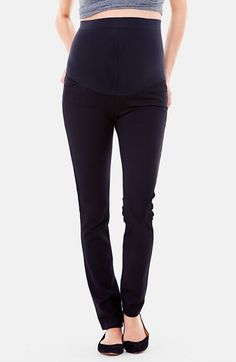 Ingrid+&+Isabel®+Ponte+Knit+Skinny+Maternity+Pants+available+at+#Nordstrom