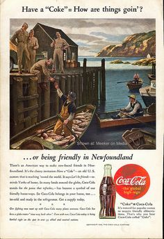 Coke ad from 1944 by JellybeanRow2012, via Flickr...  I originally posted this image at my Meeker on Media blog, back in May of 2008. It's a Coca Cola print ad that apparently appeared in National Geographic magazine, in 1944. (The link at that site has since stopped working, so I'm posting it here.) Click through to read the whole story.