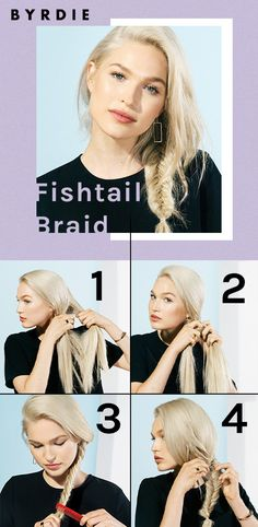 Follow this easy-to-follow hair tutorial that breaks down the basics of how to make a fishtail braid. Easy Hairstyles For Long Hair, Ponytail Hairstyles, I Feel Pretty, Hair Looks, New Hair, Long Hair Styles, Inspiration, Beauty