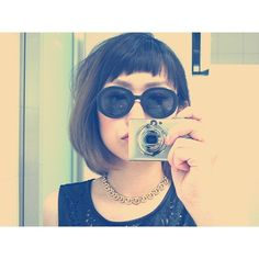Long rounded bob with rounded micro fringe