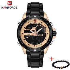 2018 NAVIFORCE Watches Men Luxury Brand Sport Full Steel Quartz Watch Men's Waterproof Military Wrist watch relogio masculino