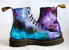 Galaxy doc martens- so cute!!❤❤ [i love'em but i couldn't wear them]