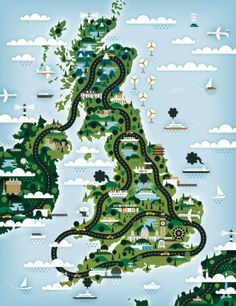 #gorgeous #map of #uk by belgian graphic design studio (clients: wired, monocle, knack)