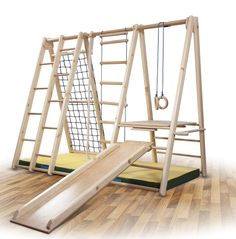 "Funny Clouds children climbing ""Bambino-3"" wall bars Gymnastic wall Fitness Sports Equipment Climber wood: Amazon.de: Sport & Leisure"
