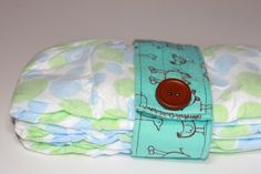 Diaper Strap Blue and Brown Animals by KallieLilyS on Etsy