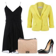 """slip dress"" by gessilene-ferreira on Polyvore featuring moda, Nanette Lepore, Christian Louboutin e Chanel"