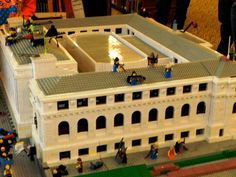 To celebrate the 100th anniversary of St. Louis Public Library's Central Library, the Gateway Lego Users Group built an impressive replica of the building out of 20,000 blocks. It took them 130 hours