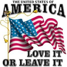 United States of America. Love It Or Leave It. Patriotic T-Shirt. American Freedom, American Pride, American Flag, American Soldiers, American Spirit, American History, Native American, I Love America, God Bless America
