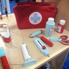 4 beautiful wooden doctor's kits for kids. Love this one from Djeco.
