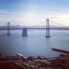 Our view while having breakfast... Loving it  @ Hyatt Regency SF - Regency CGBRv