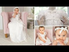 Scarlett Lace Christening Gown   Heirloom Baptism Outfits & Dresses