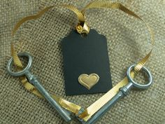 Tags Wedding100  Wedding Gold Heart Thank You by woodenartgallery, $34.00