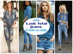 Jeans! Jeans! E mais jeans! Porque a gente ama jeans!