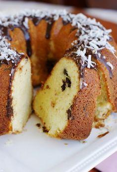 The Kitchen is My Playground: Coconut-Dark Chocolate Pound Cake {& Happy Back to School!}