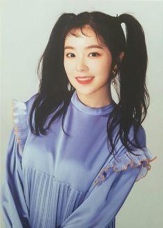 Irene with the pigtails- I love this concept! Seulgi, Red Velvet Photoshoot, Bae, Red Valvet, Postcard Book, Red Rooms, Red Velvet Irene, Black Star, Kpop Girls