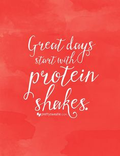 It's important to get a large amount of protein when you first wake up. If you're constantly on-the-go, your best bet may be a protein shake. They're quick to make, portable, and the good ones are full of vitamins, nutrients, and high doses of protein. Plus, it's like having a milkshake for breakfast! Can't beat that :) #protein #proteinshake #affirmation #nutrition #bodybuilding #weightloss