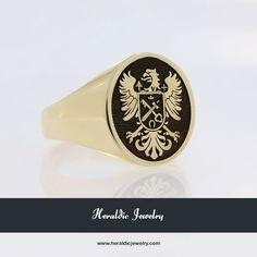 Custom gold family crest jewelry