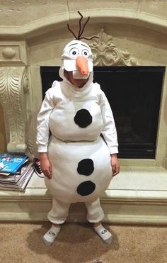 DIY Olaf Snowman Disney Frozen Halloween Costume #frozen #disney #costume Frozen Birthday Party Ideas