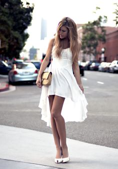 white dress. femininity