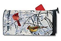 MailWraps Winter Morning Cardinal Mailbox Cover 01012