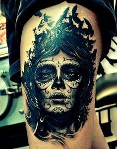 santa muerte #tattoo #santamuerte #santamuertetattoo