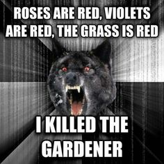 When wolves write poetry...
