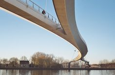 The Amsterdam Nesciobrug (Nescio Bridge) is the longest, and probably the neatest cycle bridge in the Netherlands. It was completed in 2006
