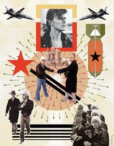 FALL DOG BOMBS THE MOON: Album: Reality, 2003. David Bowie Art by Maia Valenzuela