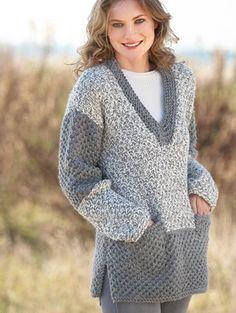 Pull long Big Merino Natur Catalogue n° 79 Adulte (Katia) Gilet Crochet, Crochet Top, Laine Katia, Pull Long, Wool Fabric, Knit Fashion, Crochet Clothes, African Fashion, Knitwear