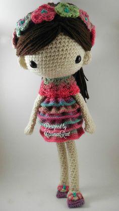 Claudia muñeca Amigurumi Crochet patrón PDF por CarmenRent en Etsy