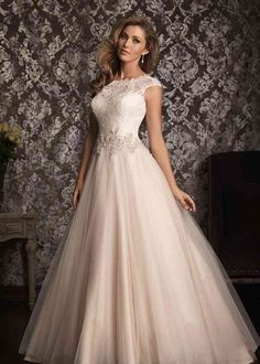 Allure Wedding Dresses and Gowns Allure Bridals 9022 Allure Bridal One Enchanted Evening - Designer Bridal, Pageant, Prom, Evening & Homecoming Gowns Wedding Dress Shopping, Modest Wedding Dresses, Tulle Wedding, Wedding Dress Styles, Bridesmaid Dresses, Dress Wedding, Prom Dresses, Ivory Wedding, Dresses 2014