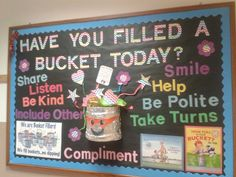 Great bulletin board put together by the PTA at Incirlik Unit School in Incirlik, Turkey. #bucketfilling