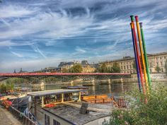 View from Les Berges, Paris (www.frenchblissme.com)