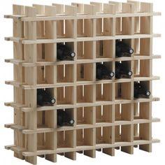 Pratique, ce casier de rangement en bois ! Indispensable chez vous, il peut accueillir jusqu'à 36 bouteilles. Astucieux, vous pourrez en disposer plusieurs côte à côte, au gré de vos envies. En plus de son aspect fonctionnel, son look tendance donnera une touche déco à votre intérieur ! Agrémentez votre intérieur en lui donnant un autre usage, en y rangeant vos objets déco ... ! Livré en kit mais facile à monter ! Dimensions : 71,5cm L .x 71,5cm H x 22cm