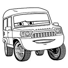 crazy car coloring pages - photo#32